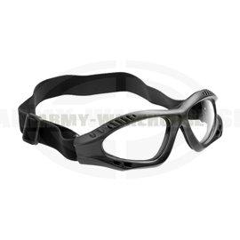 Combat Goggles Clear - schwarz (black)