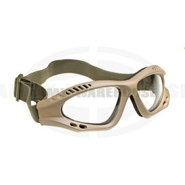 Combat Goggles Clear - Tan