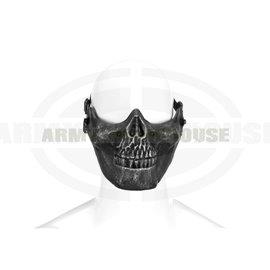 Skull Half Face Mask Metallic