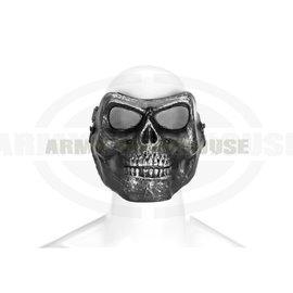 Skull Face Mask Metallic