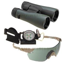 Brillen - Fernglas - Kompass